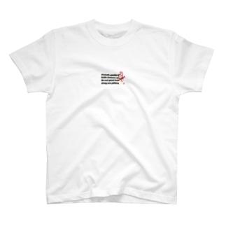 擬人化桃ダブル パターンⅡ T-shirts