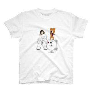 グッドポジション クマ & Kさん T-shirts