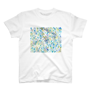 雨色rectangle T-shirts