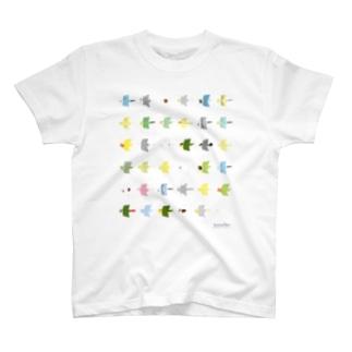 """トブトリ""""tobutori""""鳥さん T-shirts"""
