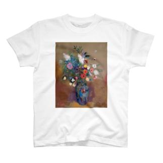 ルドン「青い花瓶の花束」 T-shirts