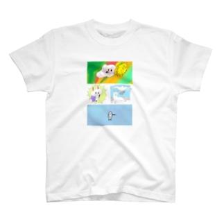 過去絵シャツ T-shirts