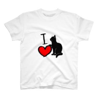 I♡にゃんこ T-shirts
