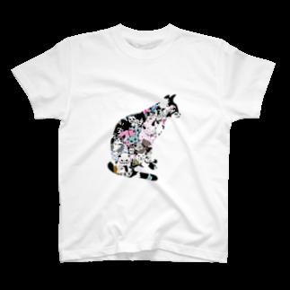 ゆるりんマルシェのゆるりんマルシェ 猫-1 T-shirts