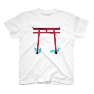 鳥居と狐 T-shirts