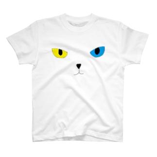 ガッツのオッドアイ(黒フチ) T-shirts