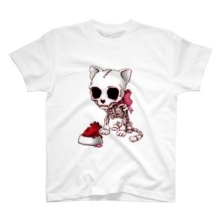 髑髏猫(各種色有) T-shirts