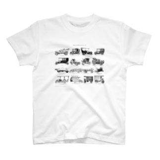 自動車<アンティーク・イラスト> T-shirts