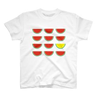 黄色いスイカ T-shirts