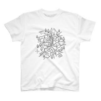 久米南町のイラスト T-shirts