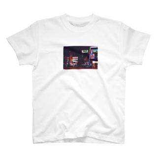ネオン街 T-shirts