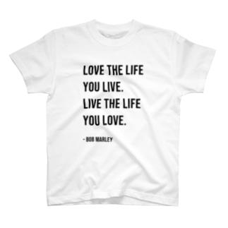 Hello BoB Marley `LOVE LIFE!!` T-shirts