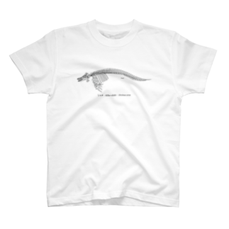 くじら屋のシャチ骨格(淡色下地用) T-shirts