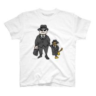 「ねこおじさん、ブルースブラザーズ」 T-shirts