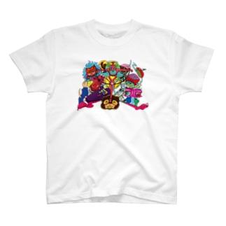 心はぽっかり穴あきハート T-shirts