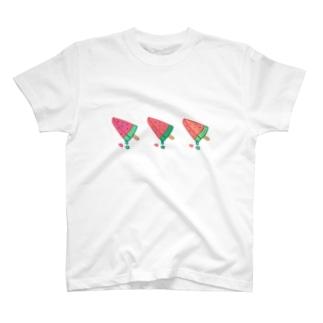 スイカのアイス T-shirts
