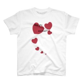ハート Are you excited? T-shirts