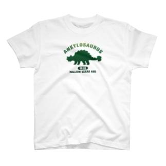 カレッジ風アンキロサウルス T-shirts