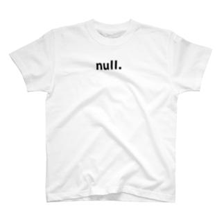 null.ロゴT T-shirts