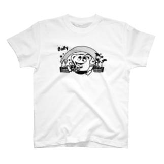 風船モンスター バリー(モノクロ) T-shirts