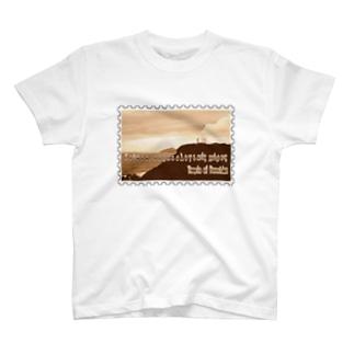 ギリシャ:スニオン岬のポセイドーン神殿★白地の製品だけご利用ください!! Greece:Temple of Poseidon at Cape Sounion★Recommend for white base products only !! T-shirts