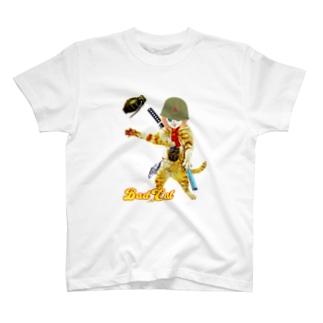 BAD CAT GIRL 手榴弾 T-shirts