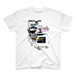 カラフルな_グリッチが_かわいい T-shirts