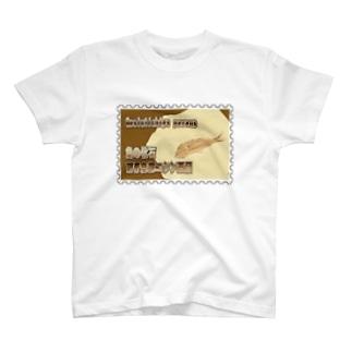 魚の化石:硬骨魚綱ニシン亜目★白地の製品だけご利用ください!! Fish Fossil: Gosiutichys parvus★Recommend for white base products only !!  T-shirts