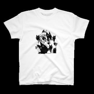あんころにっくのそびえ立つねこねこ T-shirts