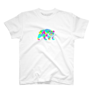 木彫りの熊 フェス風 T-shirts