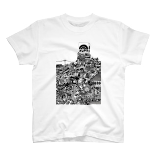 立体都市メリヤス T-Shirt