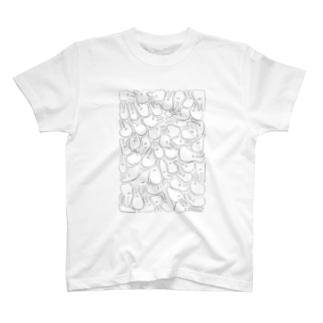 うさっさんいっぱい T-shirts