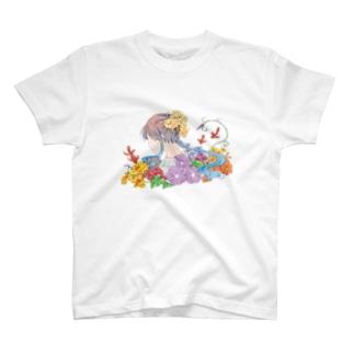 日本のきもの美人』~夏のおもいで~ T-shirts