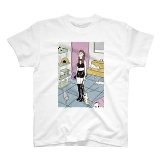 SM嬢 × 猫カフェ T-shirts