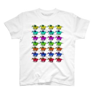 カラフルお馬さん T-shirts