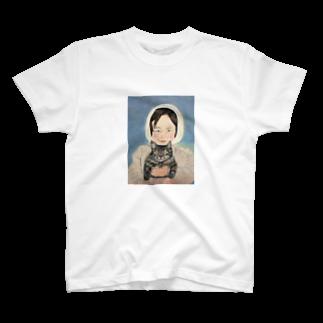 タコ夜勤@スタンプ制作致しますの少女のデザイン Tシャツ