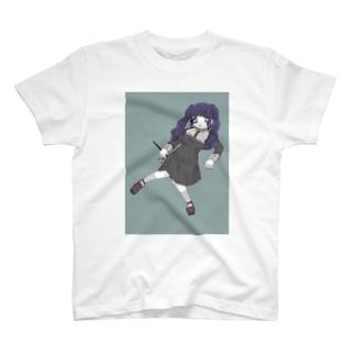 青髪女の子Tシャツ T-shirts