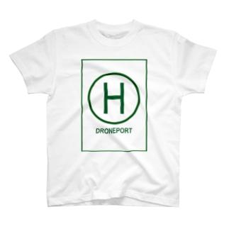 ドローンポートグリーン T-shirts