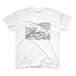 「ふゆゆんとぼさいのの食卓」 T-shirts