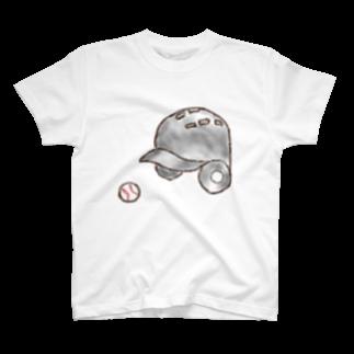 kyonophotoのヘルメットとボール T-shirts
