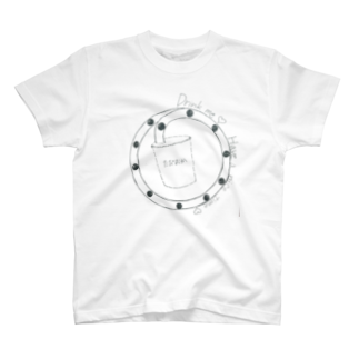 flower_for_youのタピオカ飲もう T-shirts