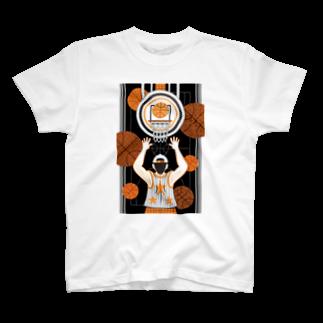 ねことりむし★CAT BIRD INSECTのBasketball boy(remake) T-shirts