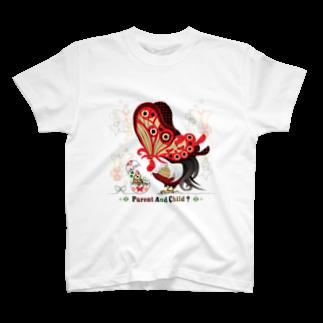ねことりむし★CAT BIRD INSECTのPARENT AND CHILD?(remake) T-shirts