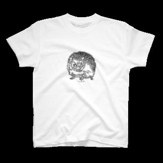 HELLL - ヘル - の左手で描いたハリネズミ T-shirts