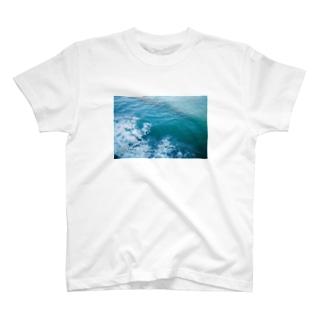 cozcozの海のあお T-shirts