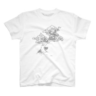 Sanohiのツリーハウス T-shirts