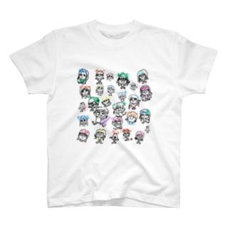 鹿専用モブ子オールスターズ T-shirts