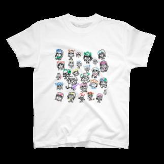 鹿専用モブ子@🦌🦌🦌🦌🦌🦌🦌🦌🦌🦌🦌🦌🦌🦌🦌🦌🦌🦌🦌🦌🦌の鹿専用モブ子オールスターズ T-shirts