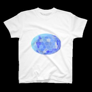 水草のブルー玉 T-shirts