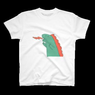 Flower Catsの恐竜がおがお T-shirts
